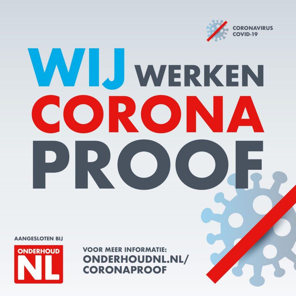 Wij werken Corona proof.